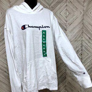 NWT champions XL womens white logo hoodie